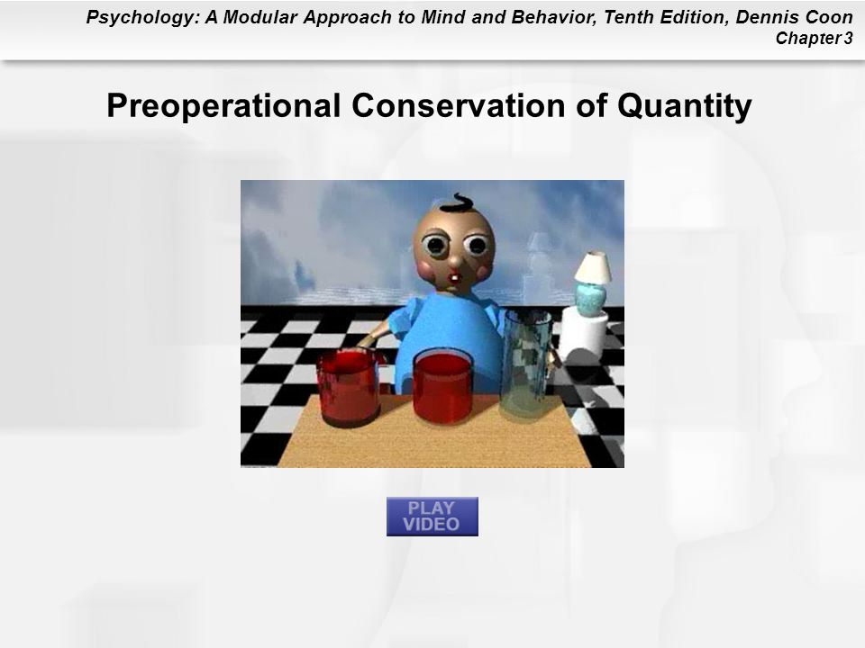 Preoperational Conservation of Quantity