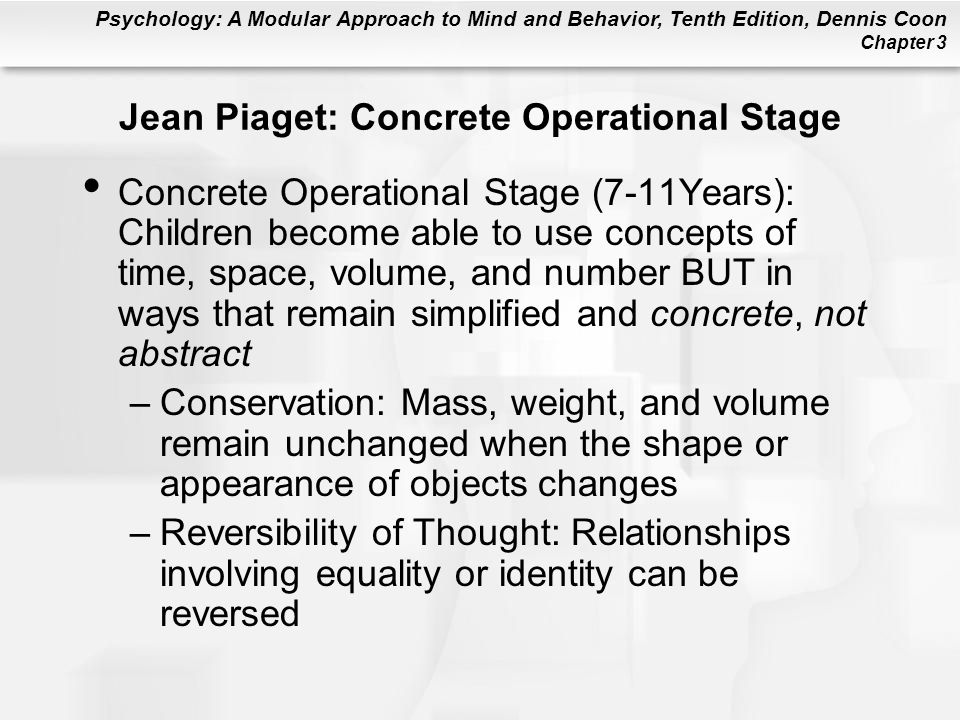 Jean Piaget: Concrete Operational Stage
