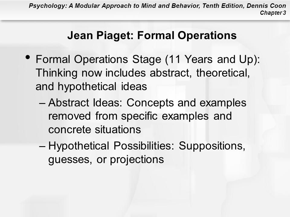 Jean Piaget: Formal Operations