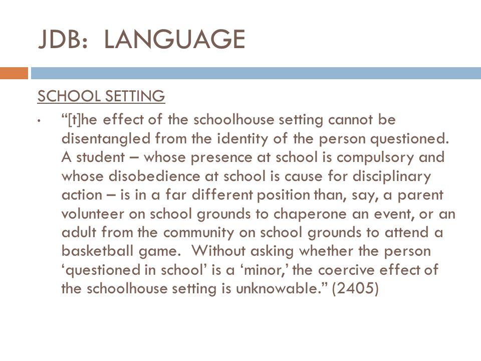 JDB: LANGUAGE SCHOOL SETTING