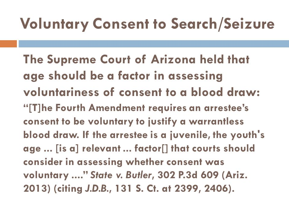 Voluntary Consent to Search/Seizure