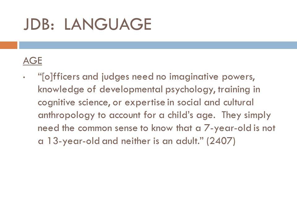 JDB: LANGUAGE AGE.