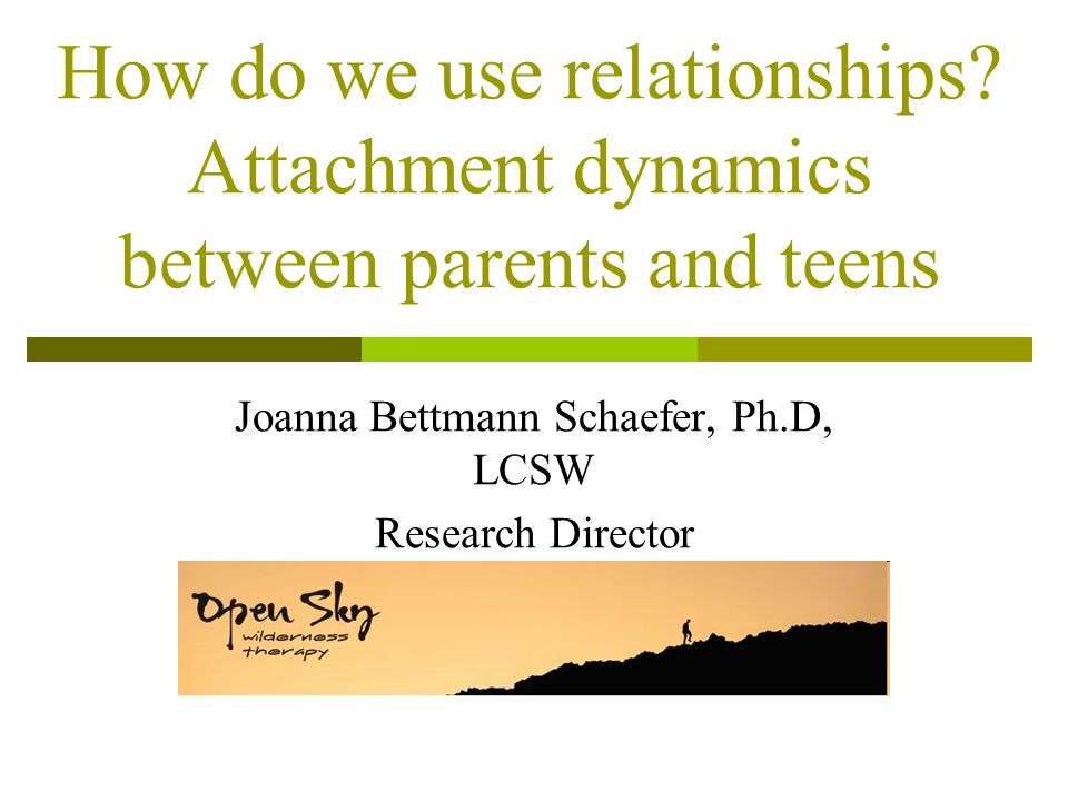 Joanna Bettmann Schaefer, Ph.D, LCSW Research Director Re