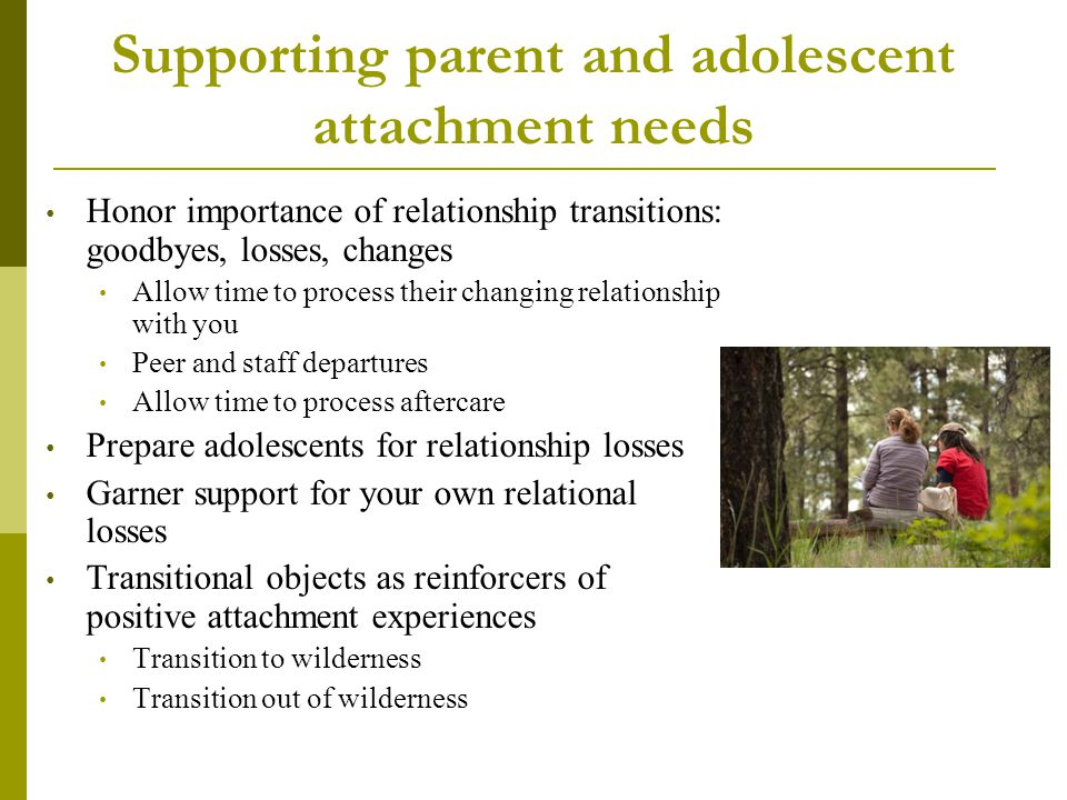 Supporting parent and adolescent attachment needs