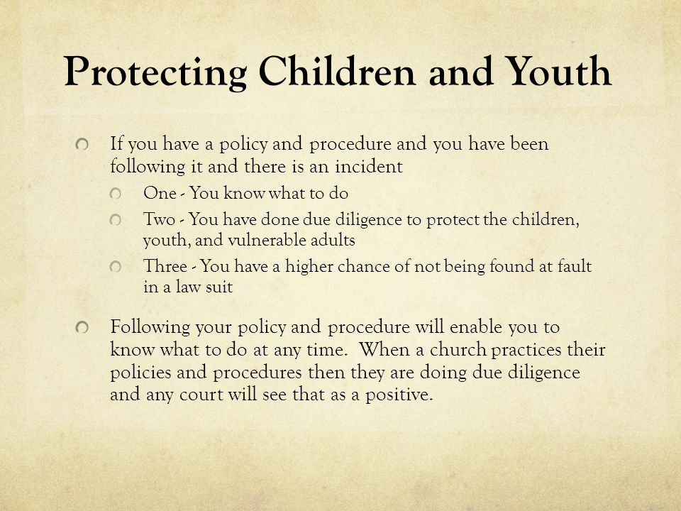Protecting Children and Youth