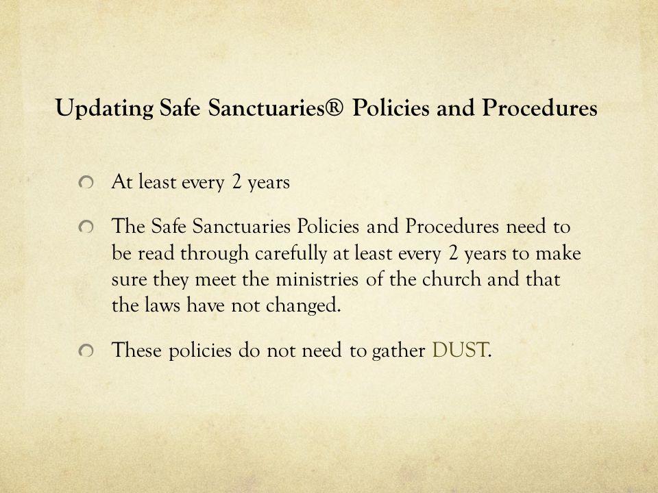 Updating Safe Sanctuaries® Policies and Procedures