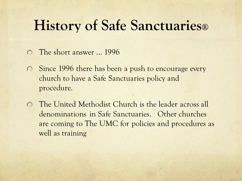History of Safe Sanctuaries®