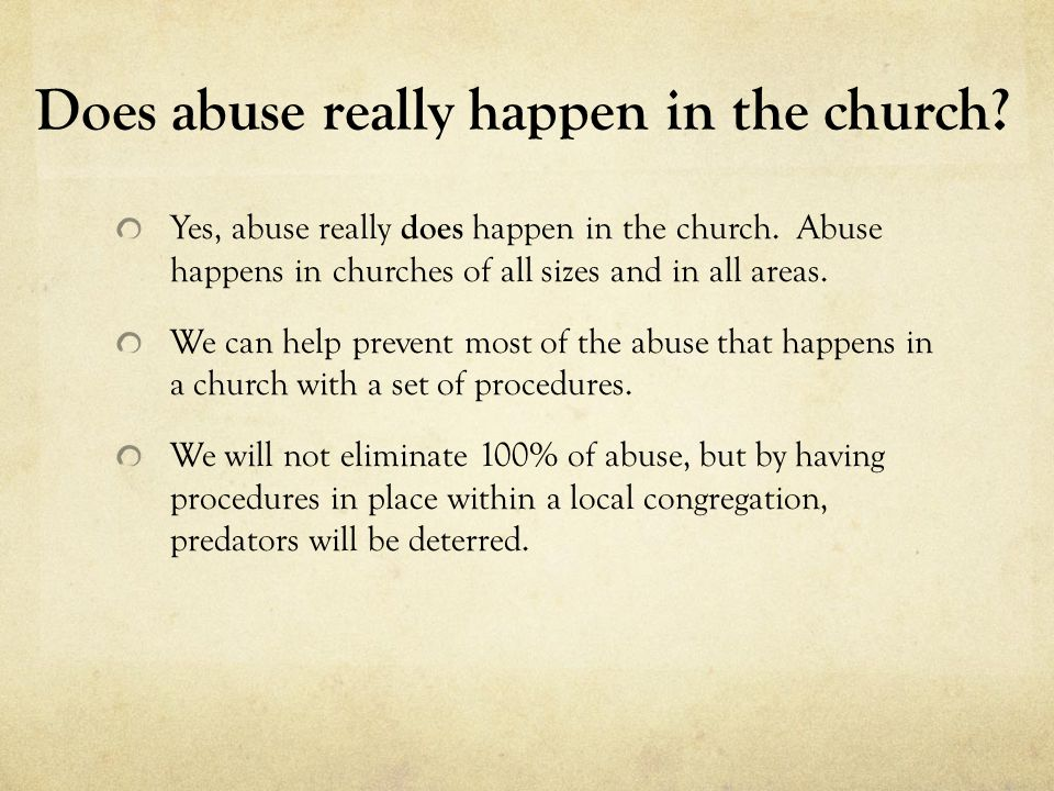 Does abuse really happen in the church