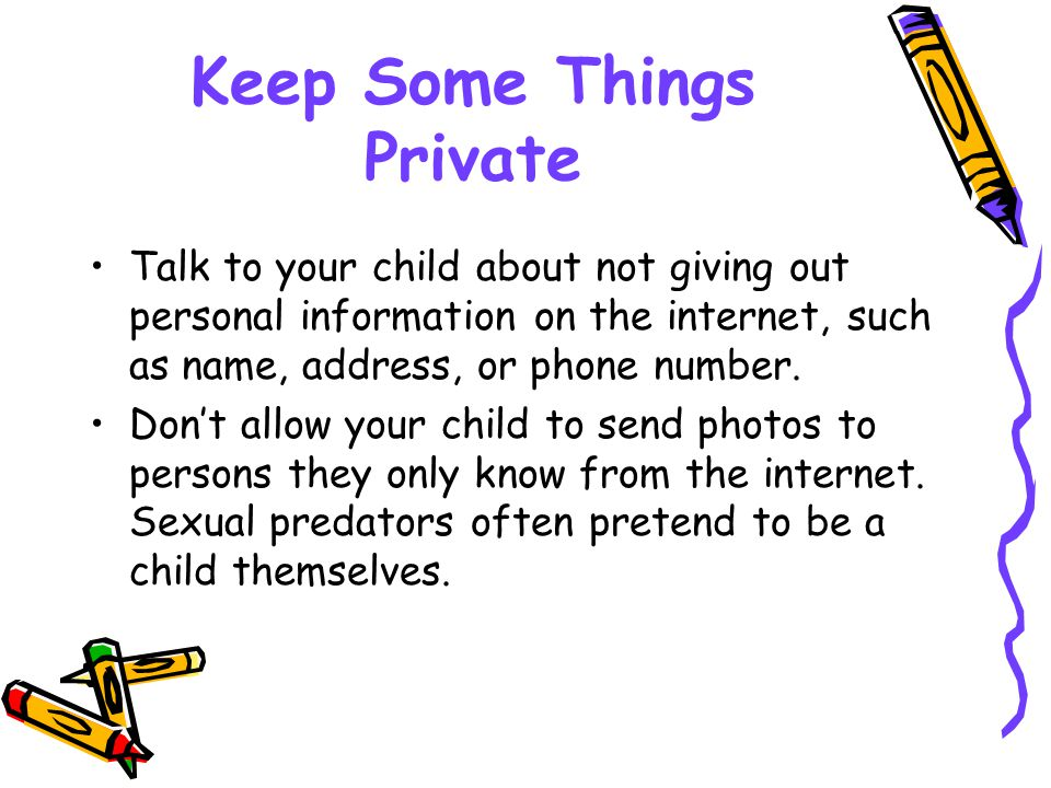 Keep Some Things Private
