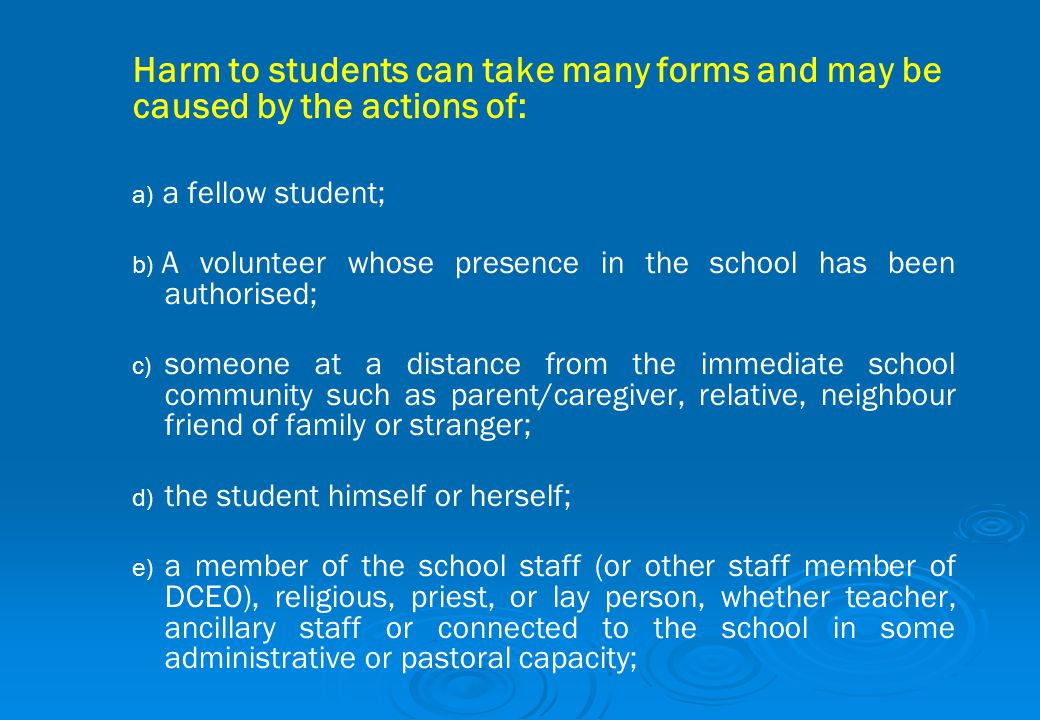 A volunteer whose presence in the school has been authorised;