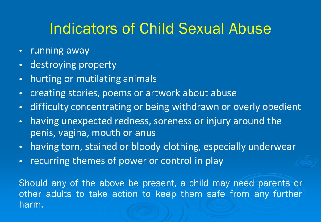 Indicators of Child Sexual Abuse