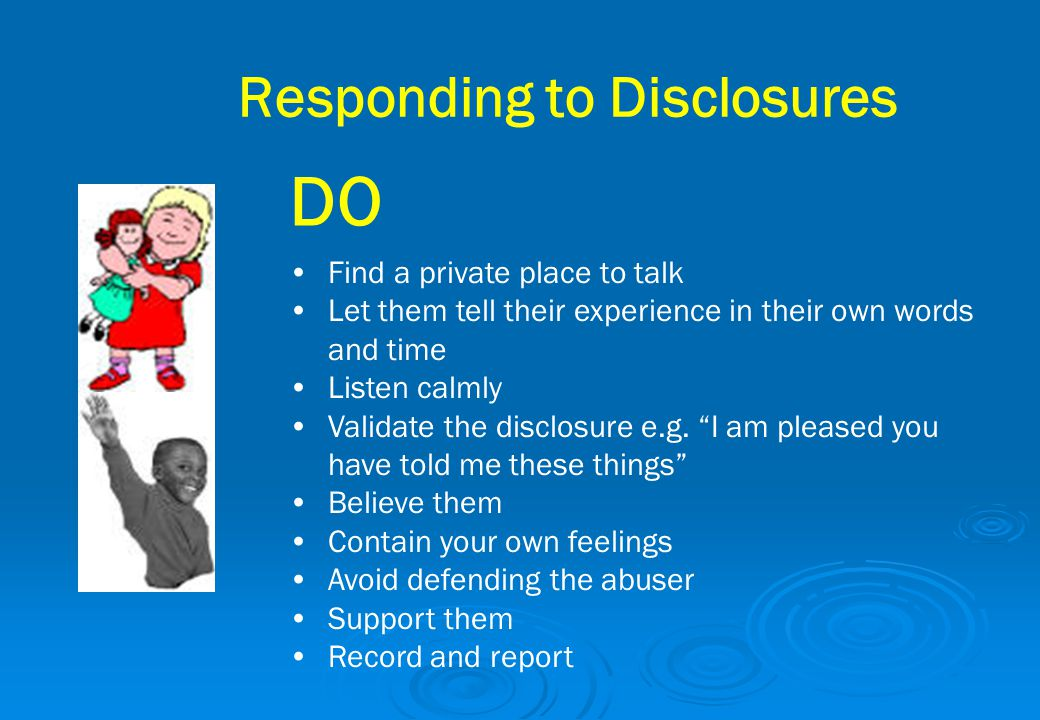 Responding to Disclosures