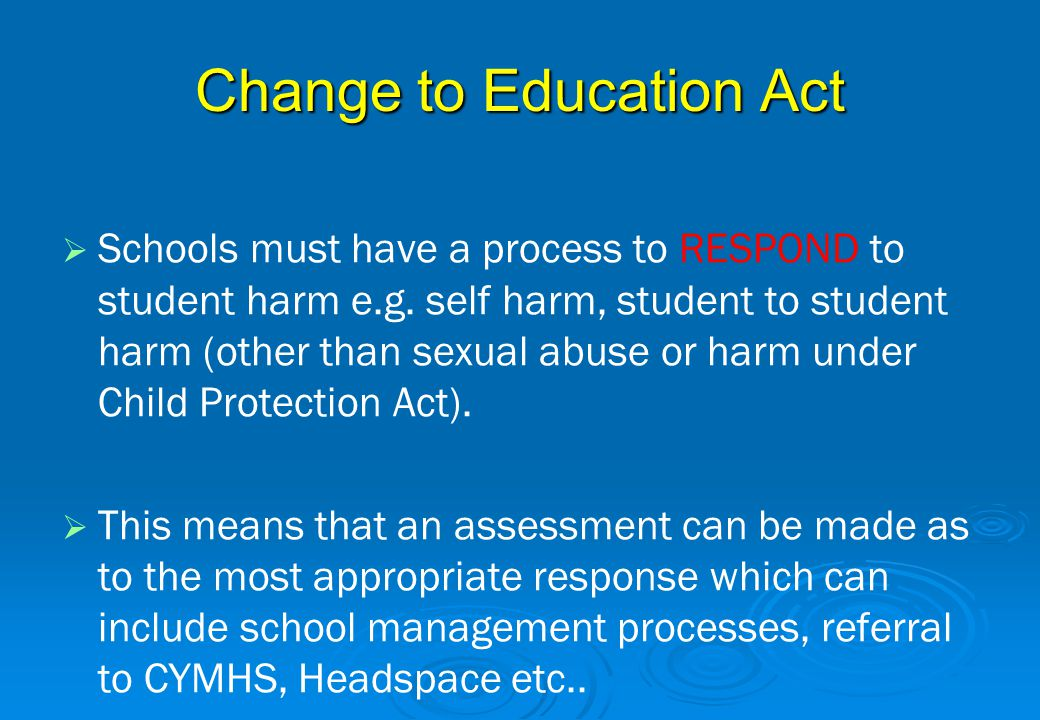 Change to Education Act