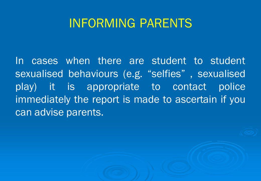 INFORMING PARENTS