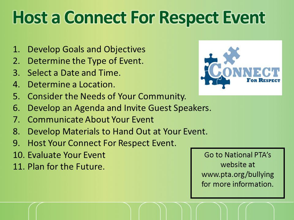 Host a Connect For Respect Event