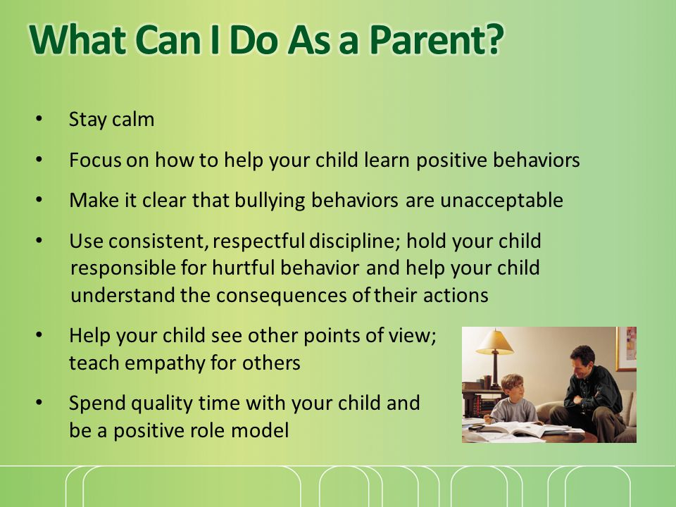 What Can I Do As a Parent Stay calm