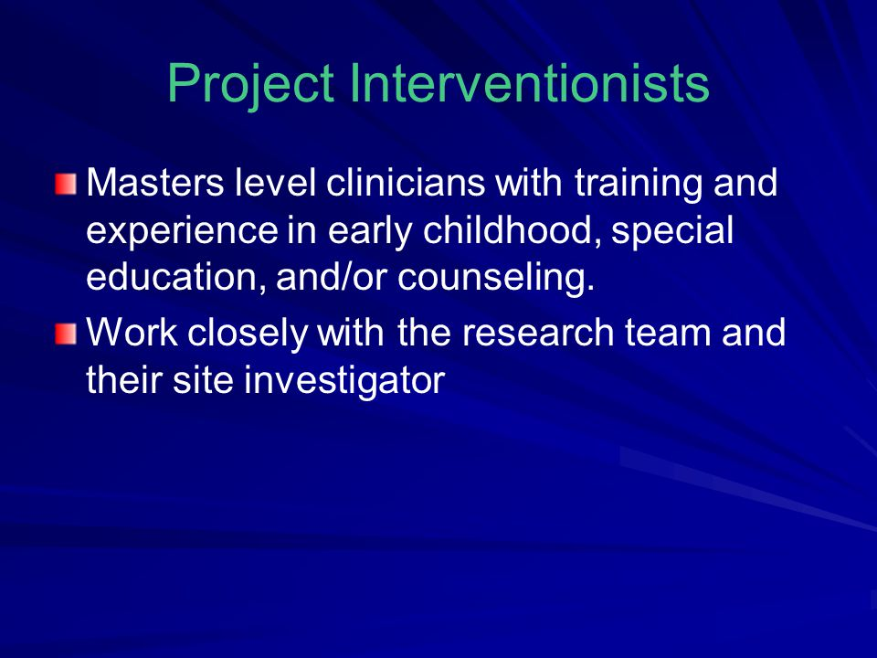 Project Interventionists
