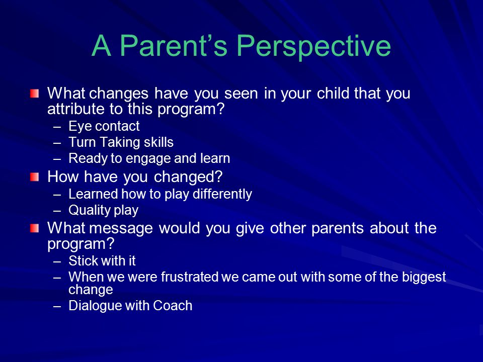 A Parent's Perspective