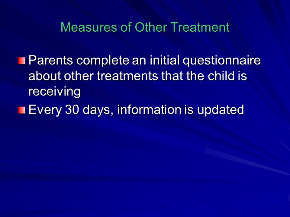 Measures of Other Treatment