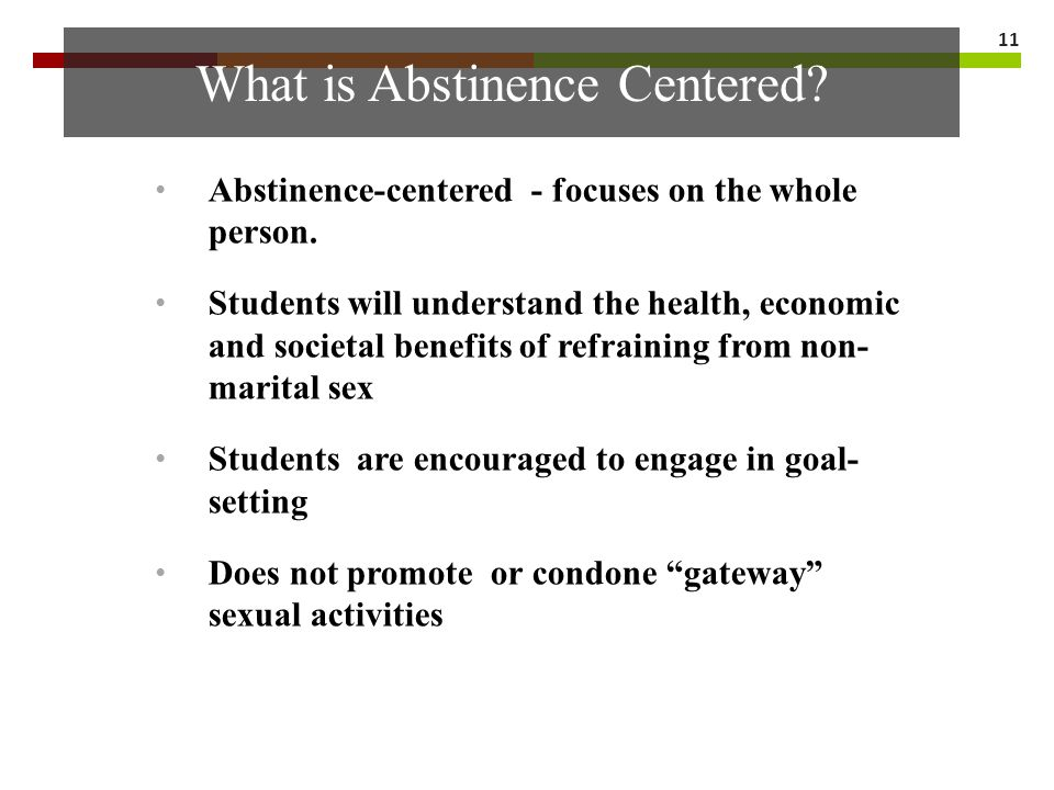 What is Abstinence Centered