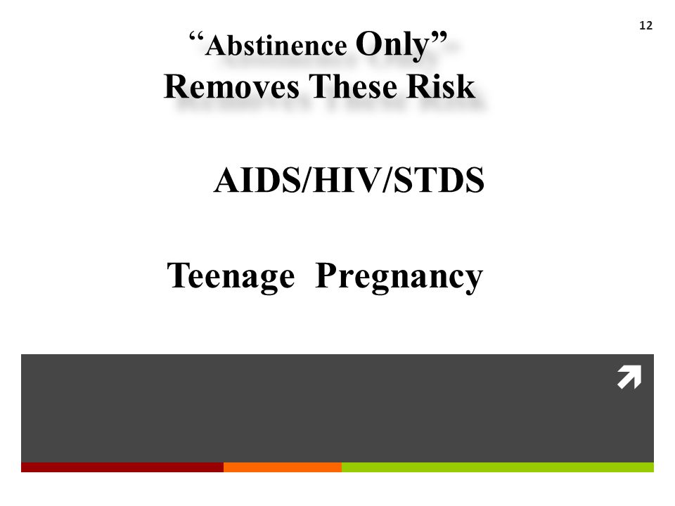 Abstinence Only Removes These Risk