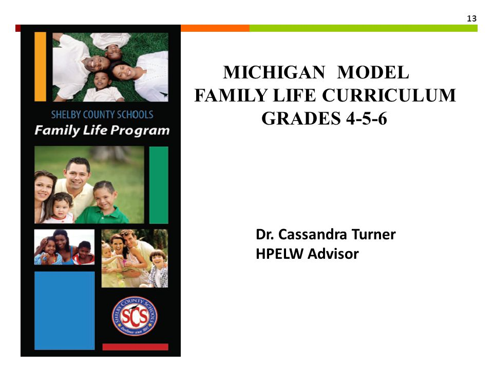 MICHIGAN MODEL FAMILY LIFE CURRICULUM GRADES 4-5-6