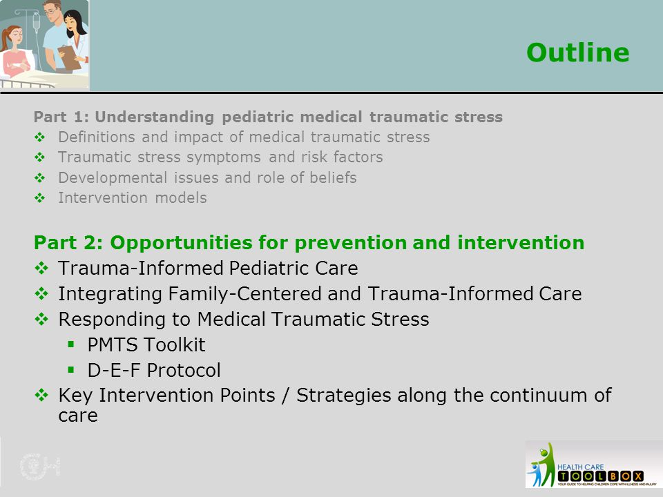 Outline Part 2: Opportunities for prevention and intervention