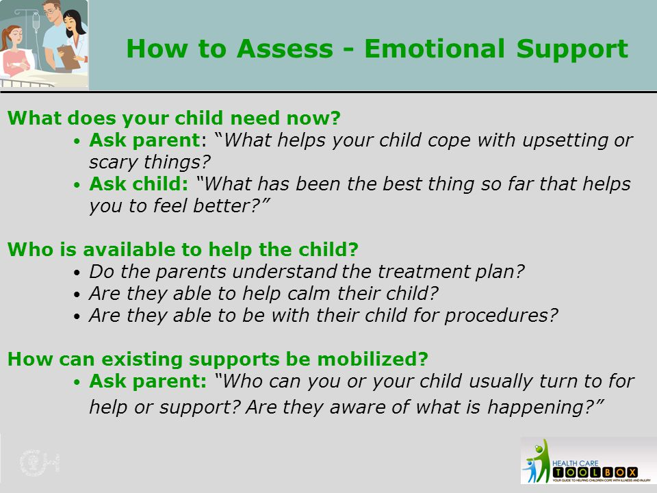 How to Assess - Emotional Support