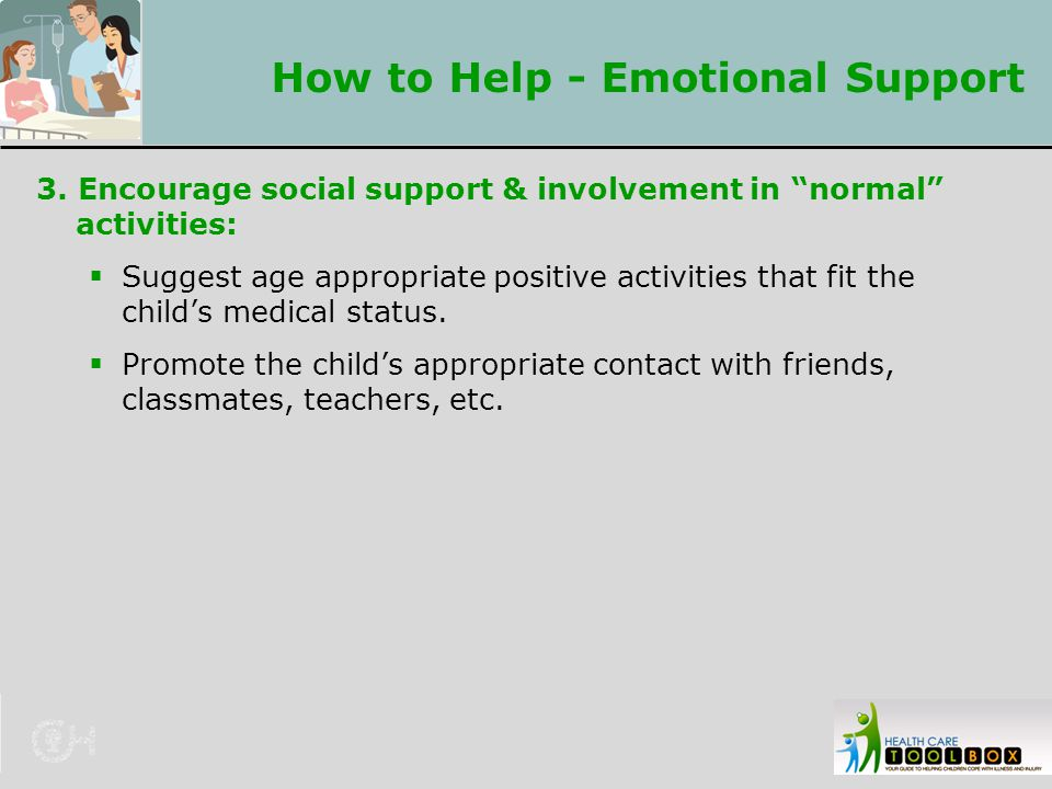 How to Help - Emotional Support