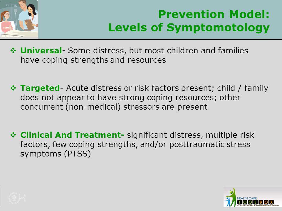 Prevention Model: Levels of Symptomotology
