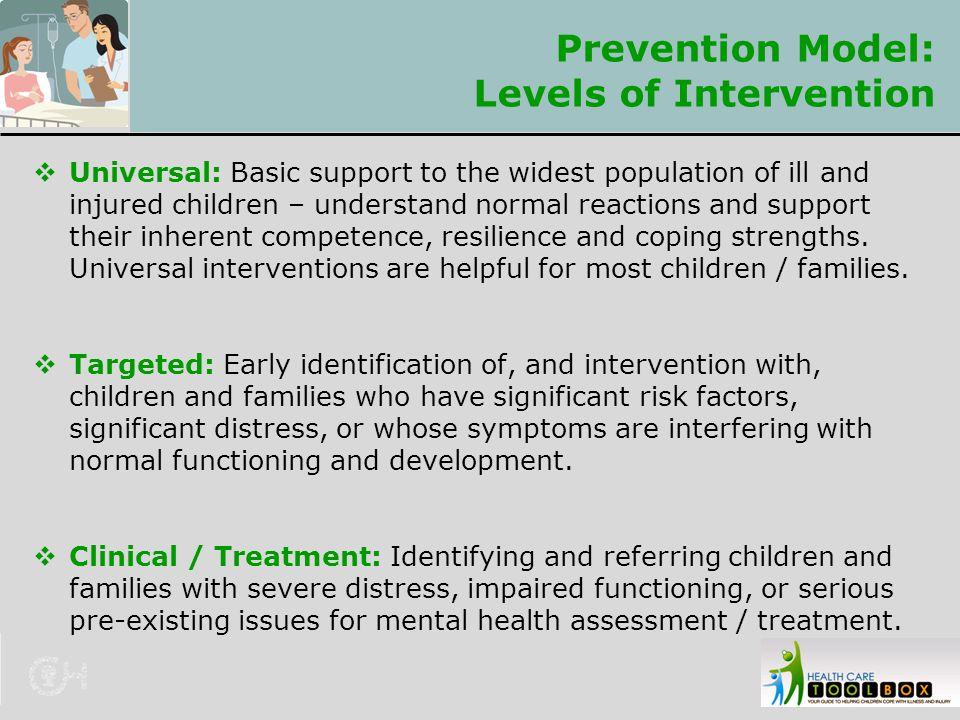 Prevention Model: Levels of Intervention