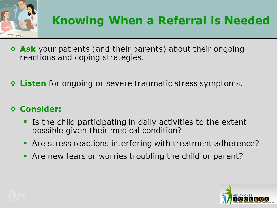 Knowing When a Referral is Needed