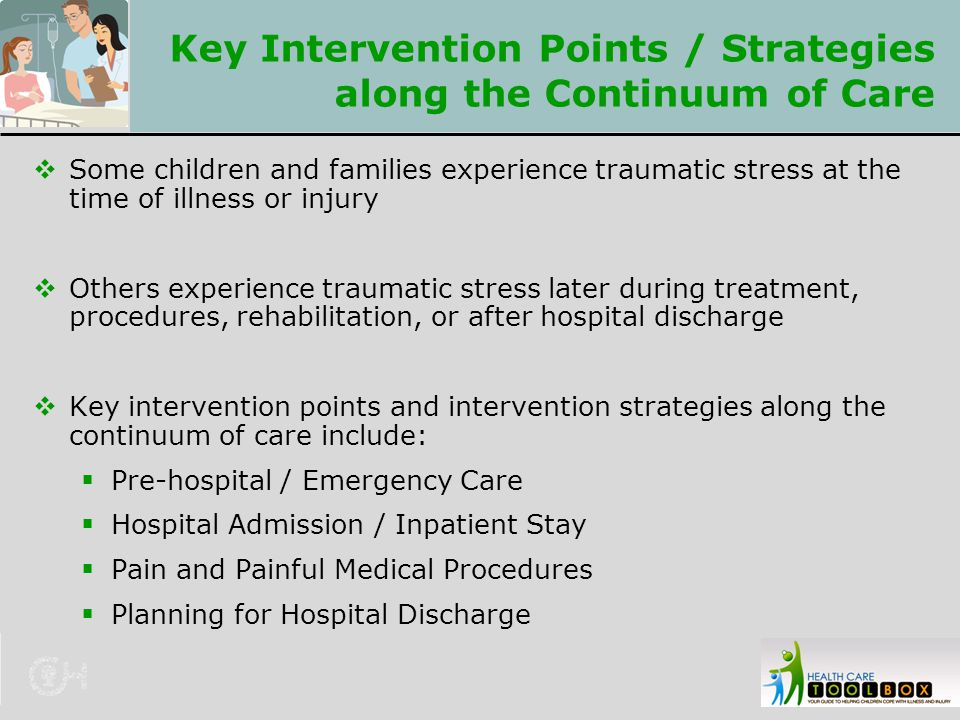 Key Intervention Points / Strategies along the Continuum of Care