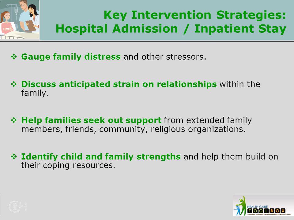 Key Intervention Strategies: Hospital Admission / Inpatient Stay