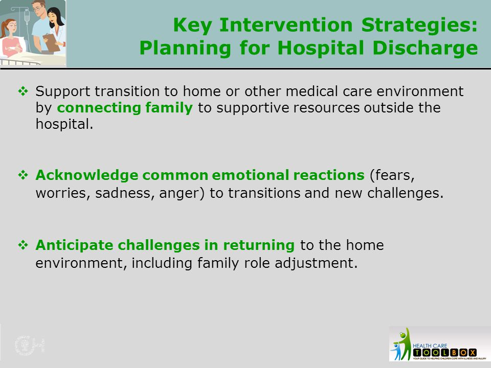 Key Intervention Strategies: Planning for Hospital Discharge