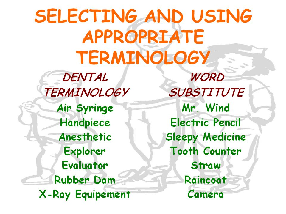 SELECTING AND USING APPROPRIATE TERMINOLOGY