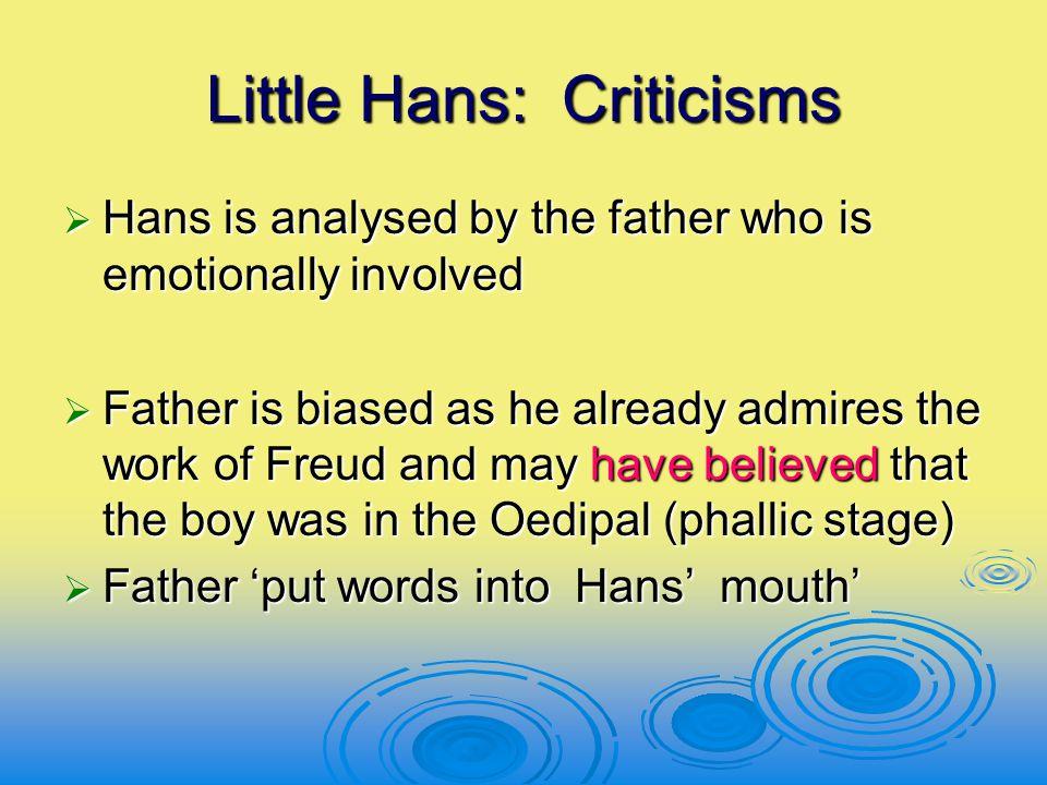 Little Hans: Criticisms