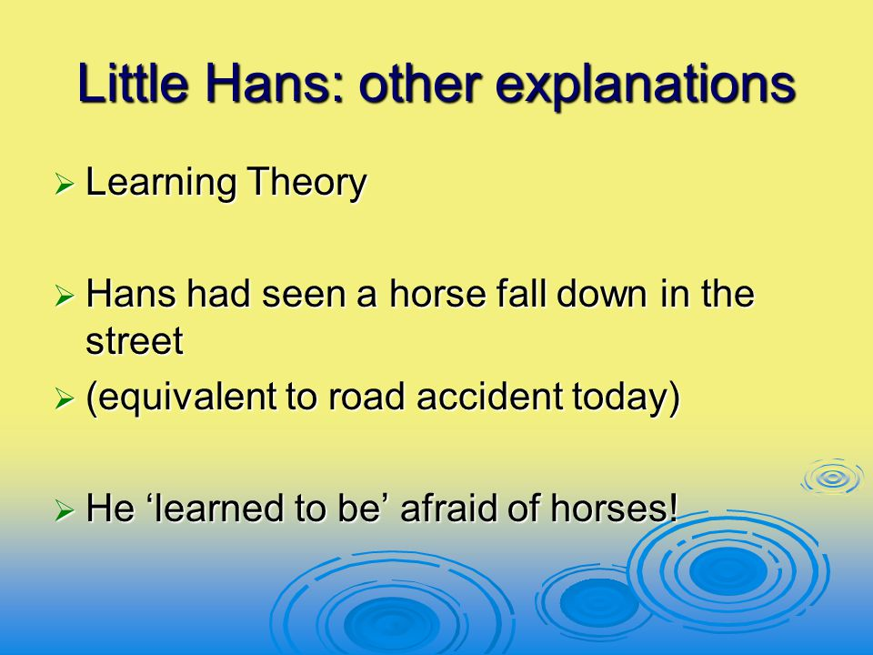Little Hans: other explanations