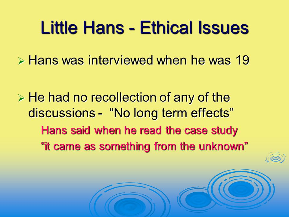 Little Hans - Ethical Issues