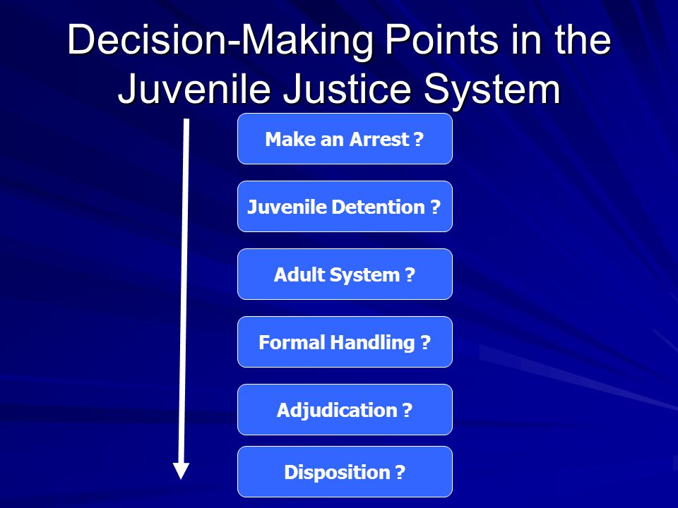 Decision-Making Points in the Juvenile Justice System