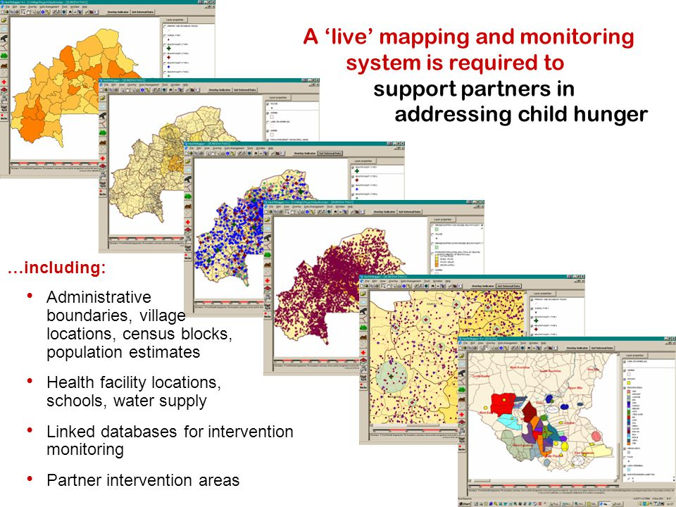 A 'live' mapping and monitoring system is required to support partners in addressing child hunger