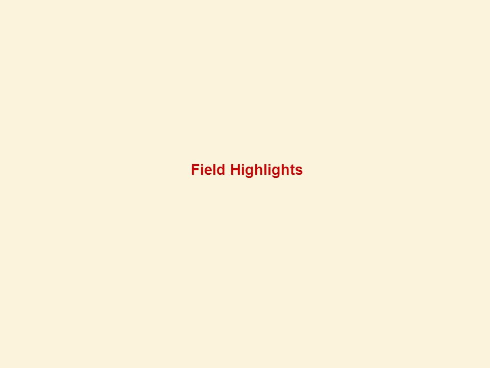 Field Highlights