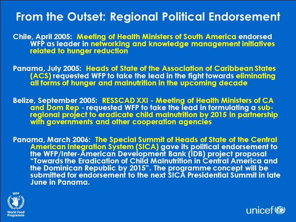 From the Outset: Regional Political Endorsement