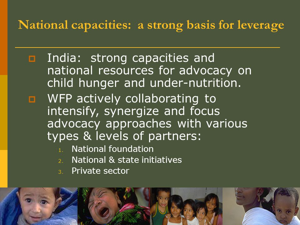 National capacities: a strong basis for leverage