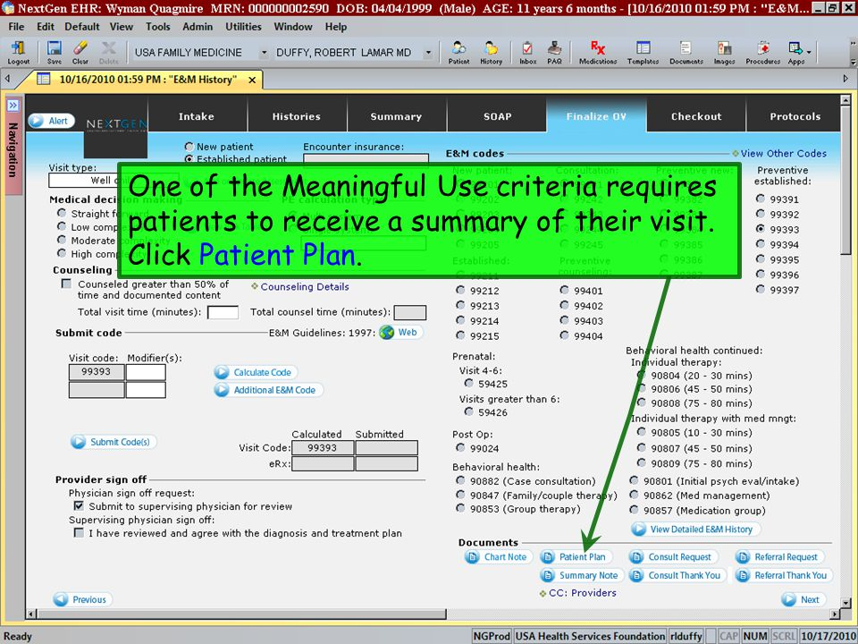 One of the Meaningful Use criteria requires patients to receive a summary of their visit.