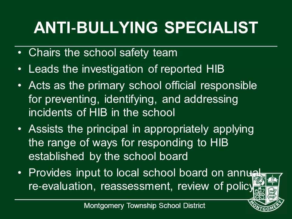 ANTI‐BULLYING SPECIALIST
