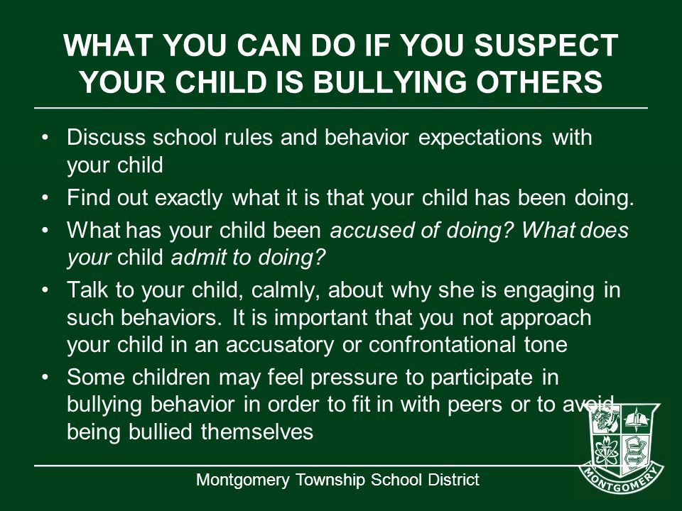 WHAT YOU CAN DO IF YOU SUSPECT YOUR CHILD IS BULLYING OTHERS