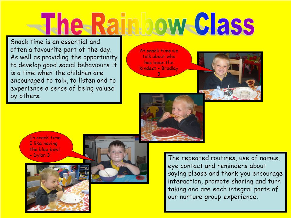 At snack time we talk about who has been the kindest – Bradley 3