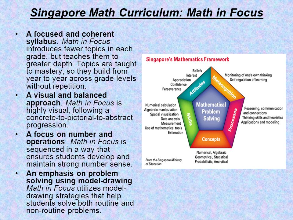 Singapore Math Curriculum: Math in Focus