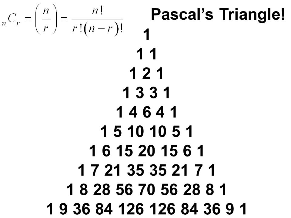 Pascal's Triangle!